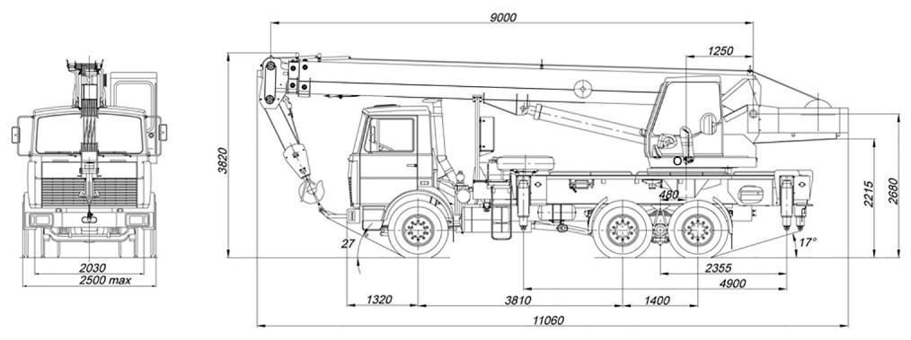 Габаритные размеры КС-55713-6К-1