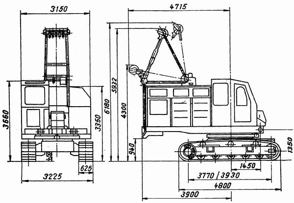 Габаритные размеры РДК-25